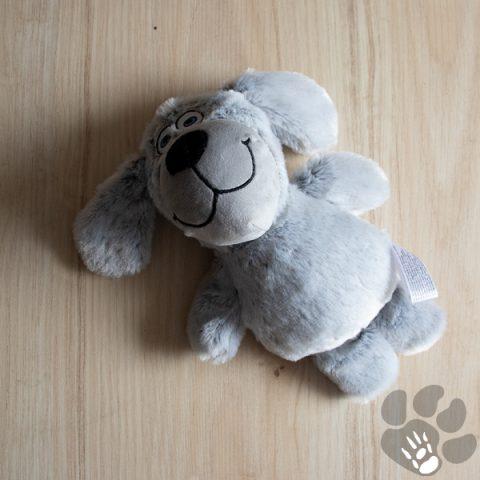 pluche hond grijs