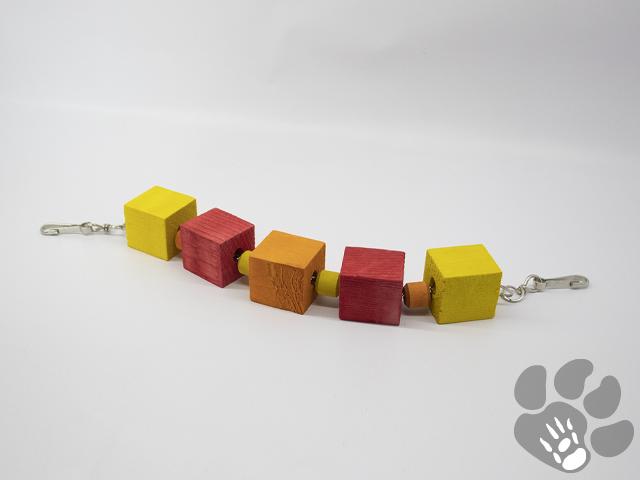 oranje, rood, gele blokken, 2 haakjes