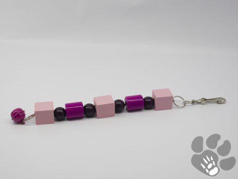 paars, roze, met bel